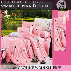 Fitted Bed Sheet Set Brushed Microfiber Breathable Extra Soft And Comfortable Wrinkle Fade And Stain Quality Extremely Durable Symbolic Pink Design Coupon