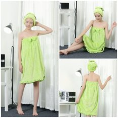 Get Cheap Microfiber Wearable Towel Bathrobe Fast Dry Washcloth Wrap Women Bath Towels Intl