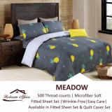 Retail Microfine Meadow Fitted Sheet Set