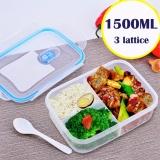 Mimosifolia Microwave Oven Heating 3 Lattice 1500Ml Lunch Box Food Storage Box Refrigerator Crisper Box Intl Shop