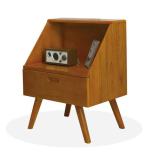 Cheaper Mid Century Bed Side Mini Cabinet Table Storage Vintage Retro Design