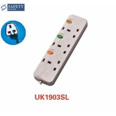 Wholesale Mika Uk1903S 3 Way Uk Plug Extension Socket With 3M Cable