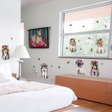 Great Deal Mimosifolia 3D Cute Dog Sticker Decal Wallpaper Pvc Mural Art House Decoration Home Picture Wall Paper For *d*lt Kids