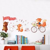 Mimosifolia Cute Cartoon Wall Stickers Baby Room Wall Decoration Non Toxic Removable Kindergarten Self Adhesive Wallpaper For Sale
