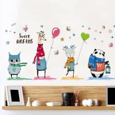 Price Mimosifolia Cartoon Animal Kids Room Kindergarten Wall Sticker Decal Wallpaper Pvc Mural Art House Decoration Home Wall Paperadult Kids Hong Kong Sar China