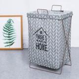 Mimosifolia Cotton Linen Laundry Basket Folding Storage Bucket Large Waterproof Laundry Basket Dirty Clothes Storage Basket Toy Storage Box Price
