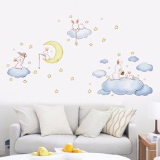 Price Mimosifolia Cute Cartoon Wall Stickers Baby Room Wall Decoration Non Toxic Removable Kindergarten Self Adhesive Wallpaper Mimosifolia