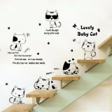 Sale Mimosifolia Nontoxic Removable Creative Cute Fun Cat Wallpaper Wall Stickers Kindergarten Art House Decoration Wall Paper Mimosifolia Online