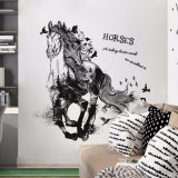 Where Can I Buy Mimosifolia Nontoxic Removable Running Horse Wallpaper Wall Stickers Office Art House Decoration Wall Paper