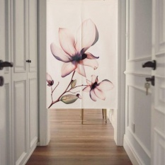 Mimosifolia Nordic Bedroom Door Curtains Flower curtain Room Dividers curtain 85X120CM - intl