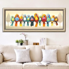 Mimosifolia (NOT Frame) Home Decoration Living Room Bedroom 5D Diamond Painting DIY Handmade Puzzle Round Diamond Art Wall Painting Forest birdie - intl
