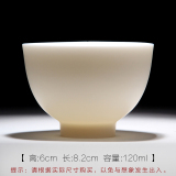 Best Rated Mingfengtang White Ivory White Jade Porcelain Cup Teacup