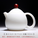 Buy Mingfengtang Jade Porcelain High White Kung Fu Tea Pig Grease White Teapot Oem Online