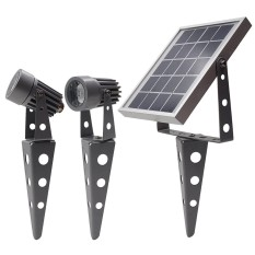 List Price Mini 50X Twin Solar Spotlight Set Gunmetal Solar Light Mart