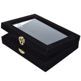 Buy Mini Case Necklace Bracelet Ring Jewellery Cufflinks Storage Box Bag Container Black Velvet China