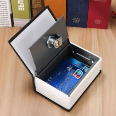 Mini Home Security Dictionary Book Secret Safe Storage Key Lock Box Cash +2  Keys Blue - intl