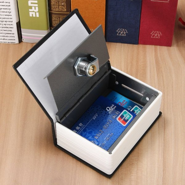 Mini Home Security Dictionary Book Secret Safe Storage Key Lock Box Cash +2 Keys Blue - intl