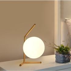 Minimalist Art Decor ball Table Lamp Geometry Abstract Design Through-Cared Bedroom Bedside Table light Decoration Abajur - intl