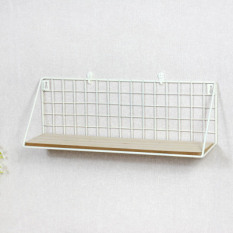 Minimalist living room wall partition storage management arm shelf