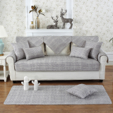 Minimalist Modern Living Room Combination Of Solid Wood Leather Sofa Cushion Fabric Cotton Four Seasons General Slip Nordic Sets Cover Towel On China