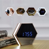 Recent Mirror Alarm Clock Rechargeable Digital Alarm Clock With Led Table Lamp For Travel And Home Intl