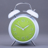 Buy Model Stylish Stereoscopic Number Silent Night Function Alarm Clock Metal Twin Double Bell Export China