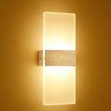 Modern Acrylic Bathroom Make Up Mirror Front Lights White Warm White Led Wall Lamp 6W Color Warm White Specification 6W Golden Intl Review