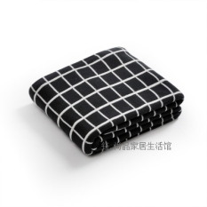 Modern Geometric Take Ab Version Of The Double Sided Available Cotton Knitted Blanket Oem Discount