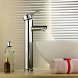 Buy Modern Centerset Single Handle Bathroom Sink Vessel Faucet Widespread Tall Body Brass Basin Mixer Tap Bar Vanity Faucets Chrome Finish Deck Mount Single Hole Intl On China