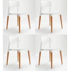Modern Design Dining Leisure Chair Set Of 4 White White On Singapore