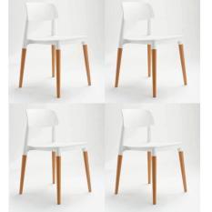 List Price Modern Design Dining Leisure Chair Set Of 4 White White Diycottage4U