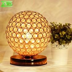 Modern Desktop Decoration Crystal Table Lamp E27 Lamp Holder 110-240V Parlor/Bed Room/Bedside Cabinet Lights - intl