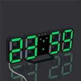Best Rated Modern Digital Led Table Desk Night Wall Clock Alarm Watch 24 Or 12 Hour Display 4 Led Colors Choice Green Intl