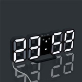 Compare Modern Digital Led Table Desk Night Wall Clock Alarm Watch 24 Or 12 Hour Display 4 Led Colors Choice White Intl