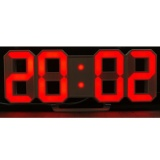 For Sale Modern Digital Led Wall Clock Table Desk Night Electric Clock Alarm Watch Multi Functional Led Clock 24 Or 12 Hour Display Color Red Intl