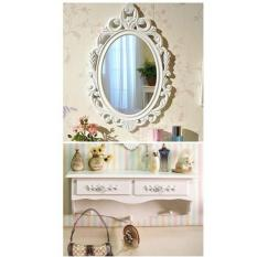 MODERN DRESSING TABLE WITH 2 DRAWERS (WHITE)