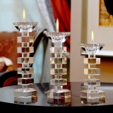 Sales Price Modern European Single Head Dual Use Crystal Candle Holder