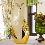 Recent Modern Gold Floor Ceramic Big Vase