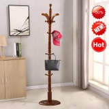 Cheap Modern High End Solid Wood Round Base 19 Hooks Coat Hanger Hat Rack Intl Online