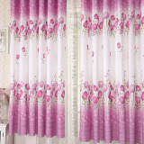 New 1 Pcs Modern Home Living Room Window Tulip Pattern Curtain Purple