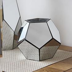 Simple Geometry Mirror Glass Vase HYUNDAI Fashion 58 Model Room Living Room Restaurant Library Decoration Asian Creative Luxury Art Works