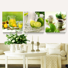 Modern Landscape Canvas Oil Painting Print Fruits 3pcs Wall Art Decor for Kitchen Room Home Decoration Unframed