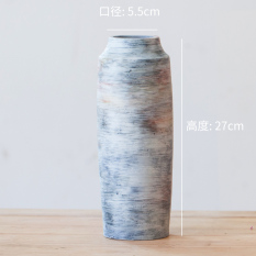 Modern Minimalist Ceramic Flower Holder gan cha Large Size Vase Northern Europe Creative Grow in Water Flower Vase Living Room Restaurant Decoration