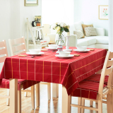 Best Price Simple European Style Plaid Curling Table Cloth Fabric