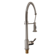 Purchase Modern Mixer Tap Spring Single Lever Pull Out Spray Kitchen Bathroom Faucet New Online