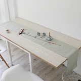 Buy Modern New Chinese Cotton Linen Ink Style Coffee Table Tablecloth Oem Cheap