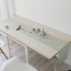 Compare Prices For Modern New Chinese Cotton Linen Ink Style Coffee Table Tablecloth
