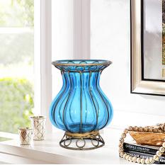 Creative American Vintage Office Desk Decoration European Style Modern Minimalist Desktop Decorations Flower Arrangement Color Glass Vase