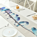 Great Deal Modern Simple Cotton Linen Table Flag Home Decorative Cloth Table Runner
