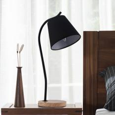 Modern Simple European Table Lamps Living Room Bedroom Bedside Light Study Reading Desk Lamp 90-260V E14 wood Light Base - intl Singapore